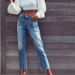 UO BDG Button Fly Raw Hem 2 Tone Jessye Jeans 25